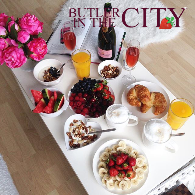 Champagne breakfast by Butlerinthecity